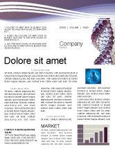 Medical: DNA On A Violet Newsletter Template #02581