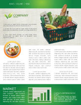 Careers/Industry: Market Basket Newsletter Template #02583