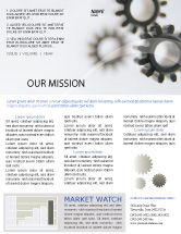 Utilities/Industrial: Gears Newsletter Template #02605
