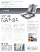 Technology, Science & Computers: Information Security Newsletter Template #02673