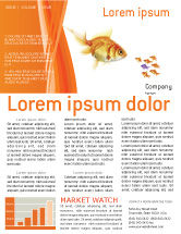Agriculture and Animals: Goldfish Newsletter Template #02710