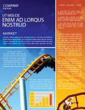 Art & Entertainment: Roller Coaster Newsletter Template #02740