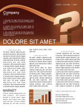 Consulting: Modello Newsletter - Punto interrogativo in 3d #02749