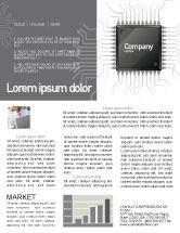 Technology, Science & Computers: 뉴스레터 템플릿 - 회색 색상의 마이크로 칩 #02782