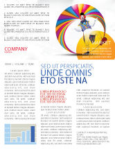 Holiday/Special Occasion: Clown Newsletter Template #02801