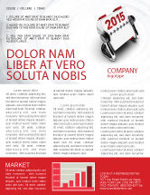 Business Concepts: Throw-Over for 2015 Newsletter Template #02834