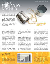 Business Concepts: Can Phone Newsletter Template #02843