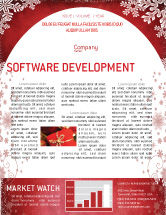 Holiday/Special Occasion: Christmas Theme Newsletter Template #02848