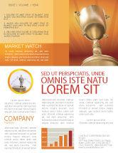 Business Concepts: Vergeben Newsletter Vorlage #02858