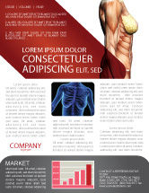Medical: Female Anatomy Muscular Corset Newsletter Template #02872