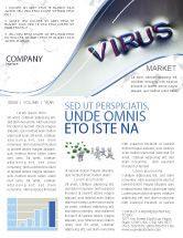 Medical: Virus Sign Newsletter Template #02875