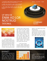 Technology, Science & Computers: Computer Firewall Newsletter Template #02893
