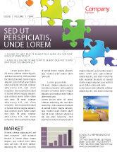 Business Concepts: Fancy Jigsaw Newsletter Template #02895