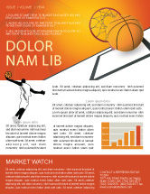 Sports: Basketball Newsletter Template #02904