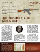 Military: Kalashnikov Newsletter Template #02934