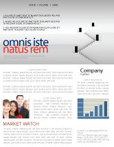 Business Concepts: Open Doors And Stairwells Newsletter Template #02943
