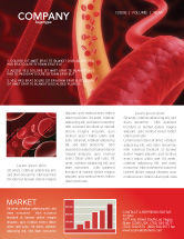 Medical: Red Blood Cells Newsletter Template #02953