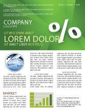Financial/Accounting: Modèle de Newsletter de signe en pourcentage #02957