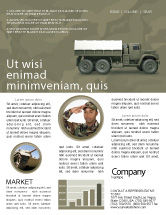 Military: Modello Newsletter - Camion militare #02962