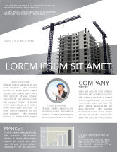 Construction: Building Plot Newsletter Template #02967