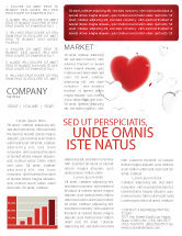 Holiday/Special Occasion: Hearts Newsletter Template #02969