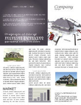Construction: Townhouse Project Newsletter Template #03027