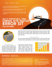 Cars/Transportation: Road Work Newsletter Template #03104