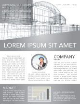 Construction: Building Design Newsletter Template #03154
