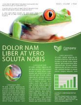 Agriculture and Animals: Tropical Green Frog Newsletter Template #03160
