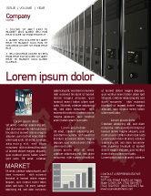 Technology, Science & Computers: Serverraum Newsletter Vorlage #03161