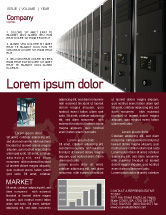Technology, Science & Computers: 뉴스레터 템플릿 - 서버 룸 #03161