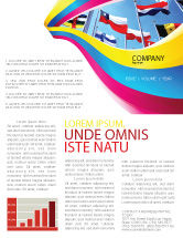 Flags/International: United Nations Newsletter Template #03169