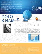 Technology, Science & Computers: Globale verbindung Newsletter Vorlage #03220