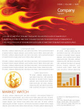 Abstract/Textures: Fire Flame Newsletter Template #03234