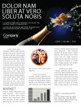 Holiday/Special Occasion: Champagne Newsletter Template #03246
