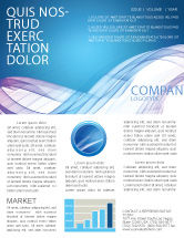 Abstract/Textures: Blue Veil Newsletter Template #03276