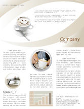 Food & Beverage: Cappuccino Cup Newsletter Template #03298