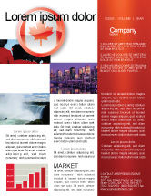 Flags/International: Canada Sign Newsletter Template #03308
