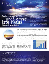 Nature & Environment: Sea Water Newsletter Template #03324