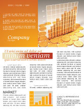 Financial/Accounting: Treasure Diagram Newsletter Template #03350