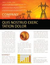 Utilities/Industrial: Plantilla de boletín informativo - instalaciones de transmisión #03380