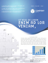 Business Concepts: Puzzle Wall Newsletter Template #03387