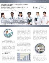 Medical: Modèle de Newsletter de stagiaires en médecine #03390