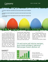 Holiday/Special Occasion: Easter Eggs Newsletter Template #03396