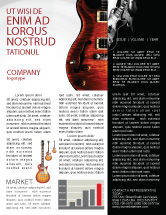 Art & Entertainment: Semi Acoustic Guitar Newsletter Template #03419