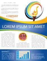 Sports: Olympic Fire Newsletter Template #03430