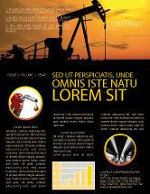 Utilities/Industrial: Plantilla de boletín informativo - productor de petróleo #03444