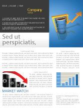 Financial/Accounting: Plantilla de boletín informativo - precios del petróleo #03447