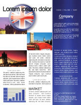 Flags/International: United Kingdom Newsletter Template #03448