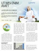 Religious/Spiritual: Countryside For Meditation Newsletter Template #03454